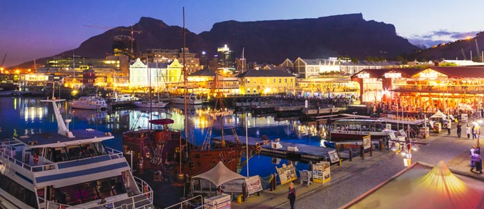 V&A Waterfront, populært sted at bo i Cape Town