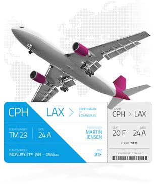 søg billige flyrejser
